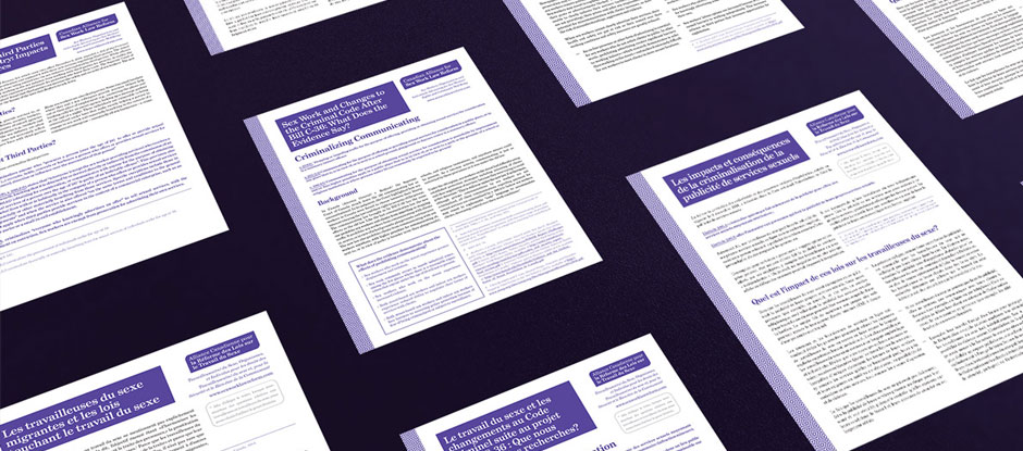 New InfoSheets from the Canadian Alliance for Sex Work Law Reform